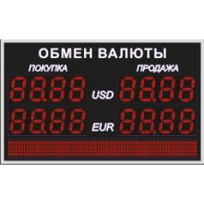 Табло обмена валют Венера 210-2-96x8