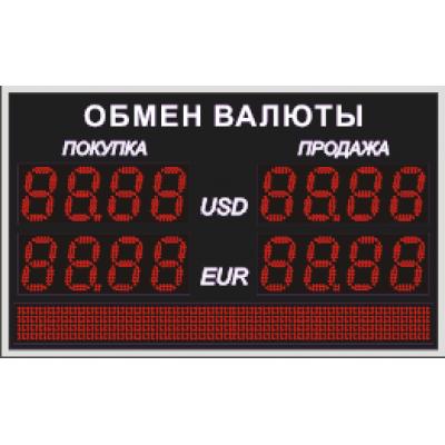 Табло обмена валют Венера 130-2-96x8