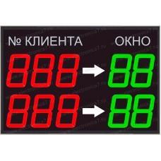Электронное светодиодное табло электронной очереди Электроника 7-23110-5