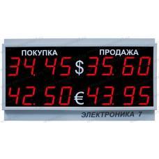 Табло валют Электроника 7-1030