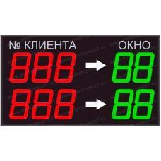 Электронное светодиодное табло электронной очереди Электроника 7-23100-5