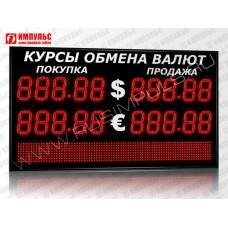 Табло валют со строкой 5 разрядов Импульс-315-2x2xZ5-S12x80