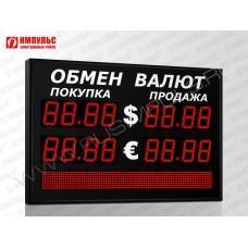Табло валют со строкой 4 разряда Импульс-311-2x2xZ4-S8x80