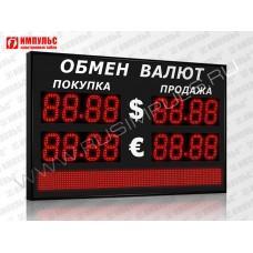 Табло валют со строкой 4 разряда Импульс-313-2x2xZ4-S8x96