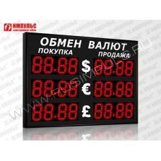 Уличное табло валют 4 разряда Импульс-313-3x2xZ4