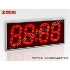 Часы в корпусе из нержавеющей стали Импульс-413-NRG