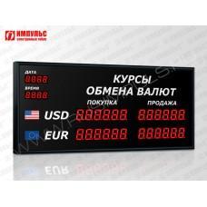 Офисное табло валют 6 разрядов Импульс-304-2x2xZ6-DTx2xD2