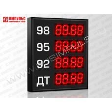 Прикассовые табло АЗС Импульс-606-4x1