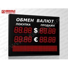 Табло валют со строкой 4 разряда Импульс-308-2x2xZ4-S8x64