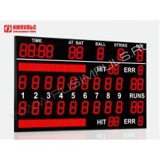 Табло для бейсбола Импульс-727-L2xD27x11-D27x9-L2xD21x3-L2xS16x160xP10