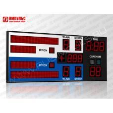 Табло для дзюдо Импульс-710-D10x9-D8x3-L2xS6x64-L2xS6x32-S4-P1