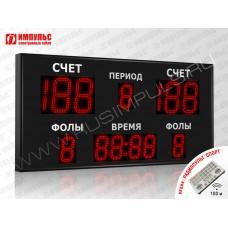 Табло для баскетбола Импульс-718-D18x6-D13x7