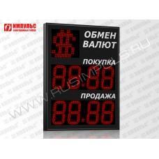 Символьное табло валют 4 разряда Импульс-318-1x2xZ4-S21