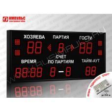 Табло для волейбола Импульс-710-D10x4-D8x9-S4-A2