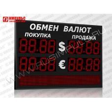 Табло валют со строкой 4 разряда Импульс-318-2x2xZ4-S12x80