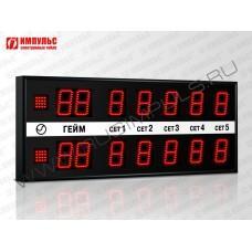 Табло для тенниса Импульс-710-L2xD10x7-S2