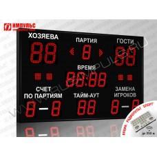 Табло для волейбола Импульс-715-D15x4-D11x11-S4-A2
