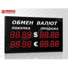 Уличное табло валют 4 разряда Импульс-309-2x2xZ4