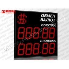Символьное табло валют 5 разрядов Импульс-324-1x2xZ5-S21