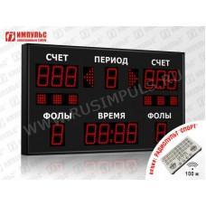Табло для баскетбола Импульс-710-D10x13xN6-S6-A2