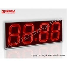 Часы в корпусе из нержавеющей стали Импульс-418-NRG