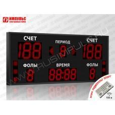 Табло для баскетбола Импульс-718-D18x6-D13x7-S6-A2