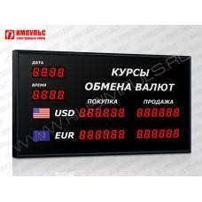 Офисное табло валют 6 разрядов Импульс-302-2x2xZ6-DTx2