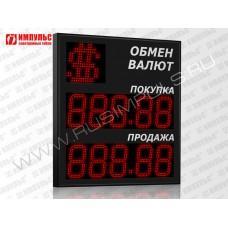 Символьное табло валют 5 разрядов Импульс-318-1x2xZ5-S21