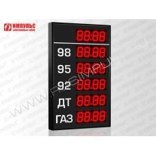 Прикассовые табло АЗС Импульс-606-5x1-DTx1