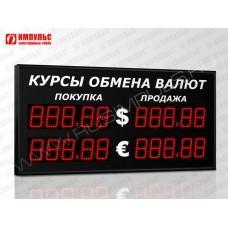Уличное табло валют 5 разрядов Импульс-310-2x2xZ5