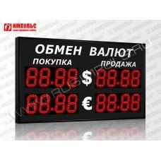 Уличное табло валют 4 разряда Импульс-313-2x2xZ4