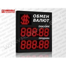 Символьное табло валют 5 разрядов Импульс-313-1x2xZ5-S15