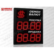 Символьное табло валют 4 разряда Импульс-321-1x2xZ4-S21