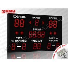 Табло для волейбола Импульс-713-D13x4-D10x11-S4-A2