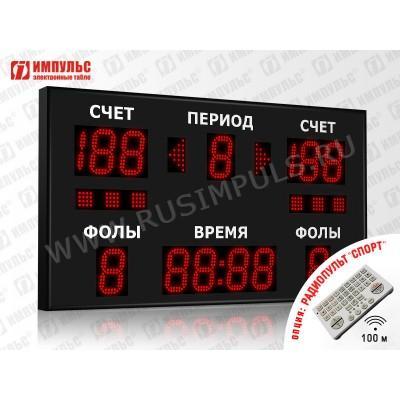 Табло спортивное универсальное Импульс-713-D13x13xN6-S6-A2
