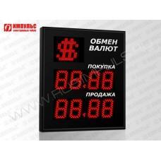 Символьное табло валют 4 разряда Импульс-309-1x2xZ4-S11