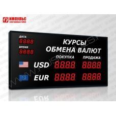 Офисное табло валют 4 разряда Импульс-304-2x2xZ4-DTx2xD2
