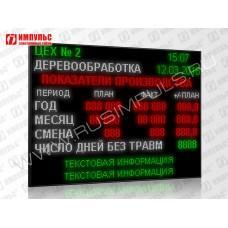 Светодиодный промышленный экран Импульс-900-224x160xP10-ETN