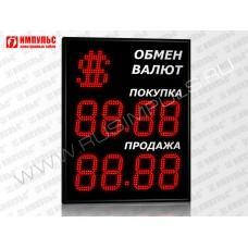 Символьное табло валют 4 разряда Импульс-315-1x2xZ4-S15