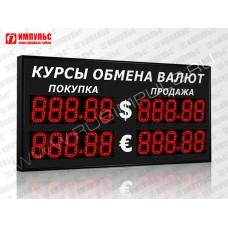 Уличное табло валют 5 разрядов Импульс-313-2x2xZ5