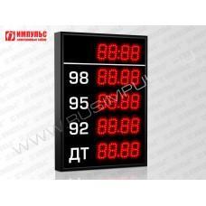 Прикассовые табло АЗС Импульс-606-4x1-DTx1