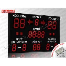 Табло для волейбола Импульс-718-D18x4-D13x11-S4-A2