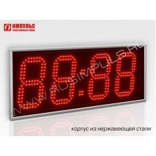 Часы в корпусе из нержавеющей стали Импульс-415-NRG