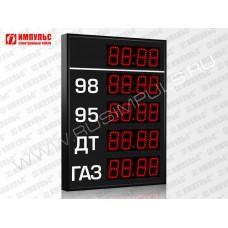 Прикассовые табло АЗС Импульс-608-4x1-DTx1