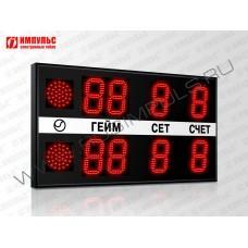 Табло для тенниса Импульс-715-L2xD15x4-S2