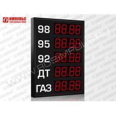 Прикассовые табло АЗС Импульс-608-5x1