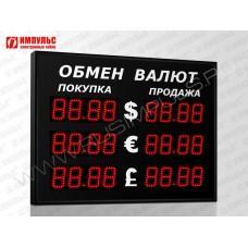 Уличное табло валют 4 разряда Импульс-308-3x2xZ4