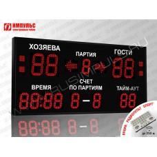Табло для волейбола Импульс-718-D18x4-D13x9-S4-A2