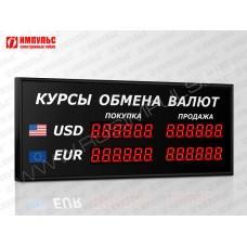 Офисное табло валют 6 разрядов Импульс-304-2x2xZ6