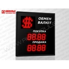 Символьное табло валют 4 разряда Импульс-306-1x2xZ4-S11